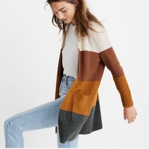Madewell Kent Striped Cardigan Sweater
